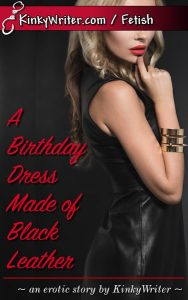 Book Cover for A Birthday Dress Made of Black Leather (by KinkyWriter)
