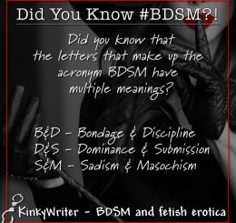 Did you know that the letters that make up the acronym BDSM have multiple meanings?