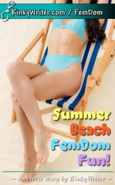 Book Cover for Summer Beach FemDom Fun! (by KinkyWriter)